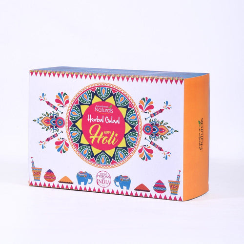 Holi Herbal Gulaal/Color Set Of 3 Gift Box