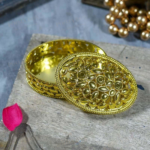 Shimmering Golden Trinket Box Jewellery