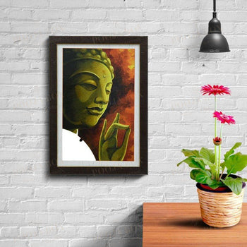 Spiritual Lord Buddha Painting For Decor Framed Paintings