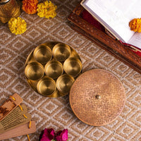 Traditional Antique Brass Pooja Samagridaan Item