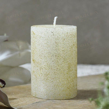 White Glitter Candle