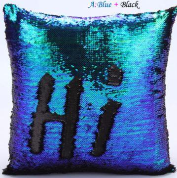 Two-Tone Sequins Pillow Cover