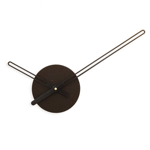 svart klokke-minimalistisk-norsk-design-vegg-decor-veggklokke-clock-minimalist-design-wall-decor-Nordahl Konings-made in Norway