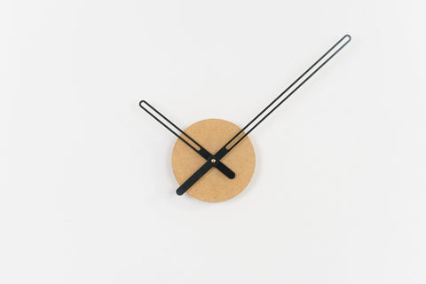 Sweep Wall Clock, The Red Ocher Series with Brass Clock Hands, Minimalist Scandinavian Design Wall Decor Clock by Christopher Nordahl Konings