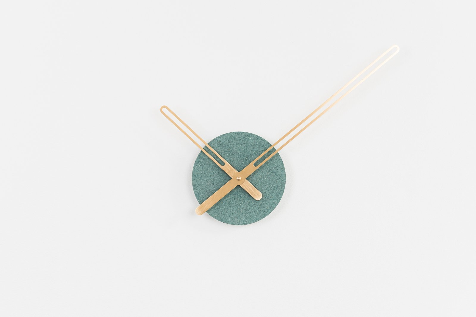 Sweep Wall Clock, The Green Ocher Series with Brass Clock Hands, Minimalist Scandinavian Design Wall Decor Clock by Christopher Nordahl Konings