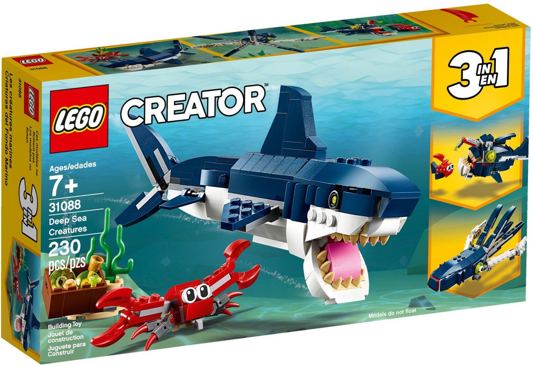 Lego 31088 Deep Sea Creatures 3 in 1 Set