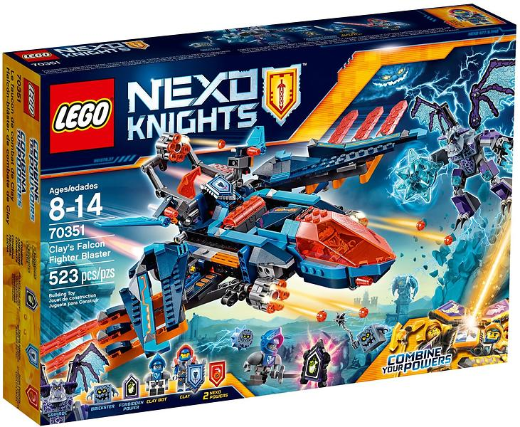 LEGO NEXO KNIGHTS 70351 Clay's Falcon Fighter Blaster Set