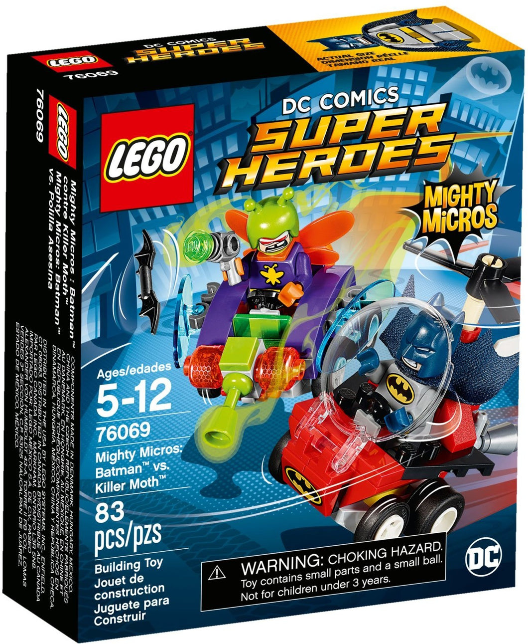 Lego 76069 Super Heroes Mighty Micros: Batman vs. Killer Moth Box