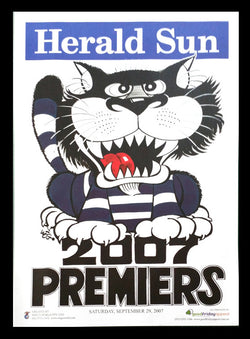2007 AFL Cats Premiership Poster