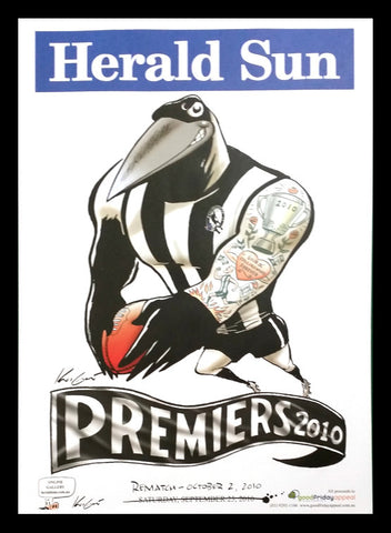 2010 AFL Magpies Premiership Poster