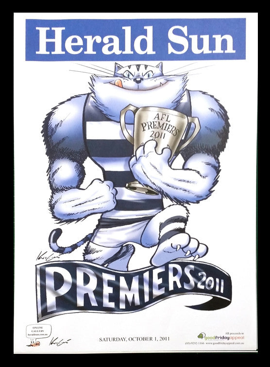 2011 Afl Cats Premiership Poster Classic Picture Framers