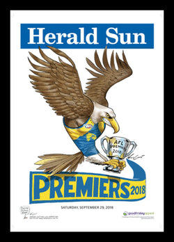 2018 AFL Eagles Premiership Poster