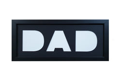 """DAD"" Photo Frame - Black Mat"