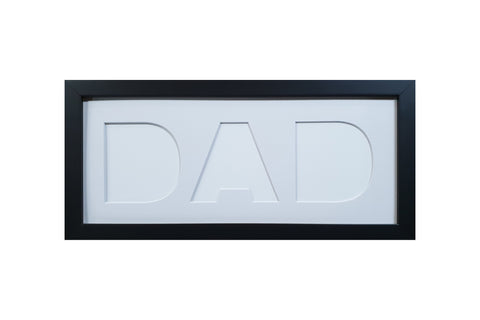 """DAD"" Photo Frame - White Mat"