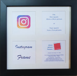 """Instagram"" Square Timber Frame 20 x 20 cm"