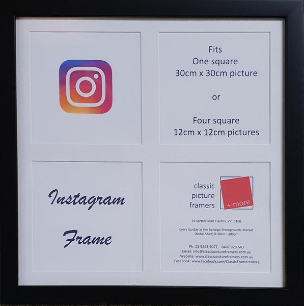 """Instagram"" Square Timber Frame 30 x 30 cm"