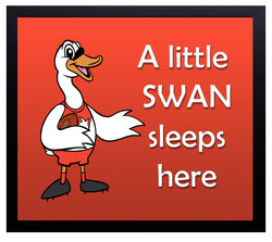 Kid's Room Sign - Swans