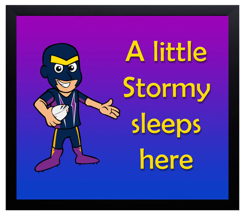 Kid's Room Sign - Storm