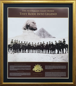 ANZAC Australian Lighthorse Limited Edition Memorabilia
