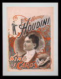 Magic Poster Print - Houdini - King of Cards