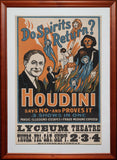 Magic Poster Print - Houdini - Do The Spirits Return?
