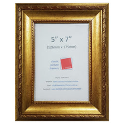 Antique Gold Style Picture Frame - Gold 40mm