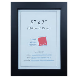 Timber Picture Frame - Black 20mm
