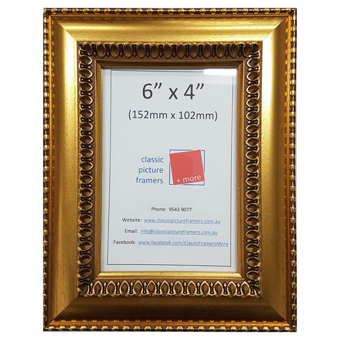 Ornate Gold Style Picture Frame - Gold 40mm