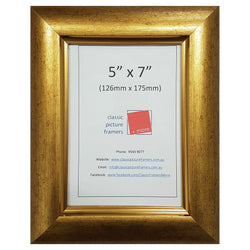Rolled Gold Style Picture Frame - Gold 40mm