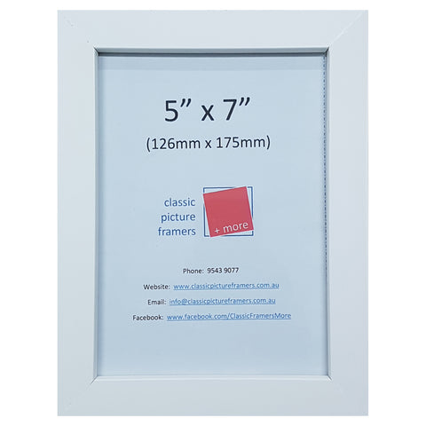 Timber Picture Frame - White 20mm