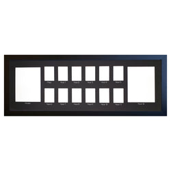 School Years Photo Frame - Large - Black Mat with Silver Writing