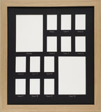 School Years Photo Frame - Large Rectangular - Black Mat with Silver Writing