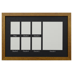 School Years Photo Frame - Primary School - Medium - Black Mat with Silver Writing