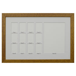 School Years Photo Frame - Medium - White Mat with Black Writing