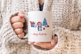 Set of 4 Snowland Christmas Coffee Mugs