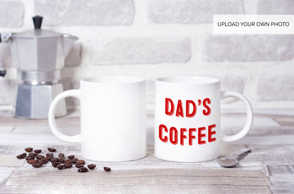 """Dad's Coffee"" Custom Photo Coffee Mug"