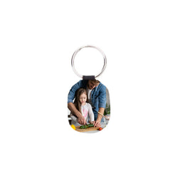 Customised Photo Leather Key Tag