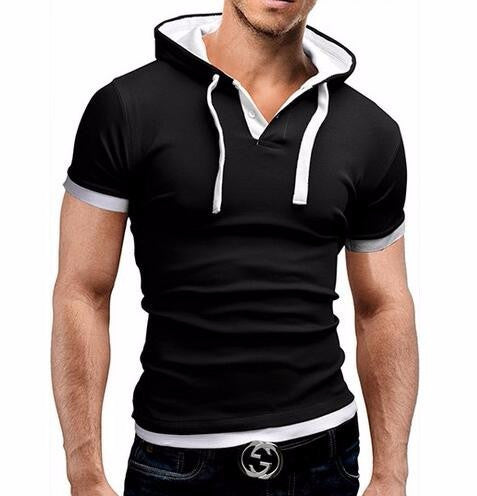 T-Shirt Hoodie Sling Short-Sleeved
