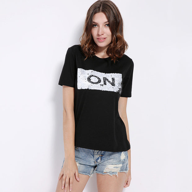 On/Off Basic Tee Black Tops