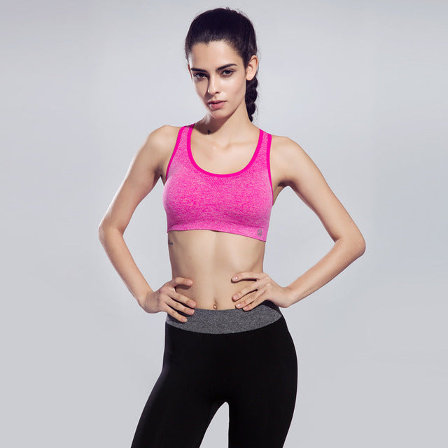 Maxmessy Breathable Women Sport Yoga Professional Crop Top Running Gym Sportwear Sport Bra Gym Vest Bras Fitness Tank Top