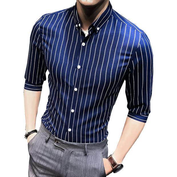 Men's shirt New summer men casual Short sleeve shirt Slim fit shirt fashion business dress shirt