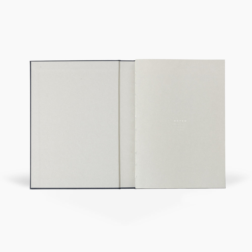 NOTEM Alva Annual Journal 2021, A5 Flat Lay Binding - Dark Blue - NOTEM studio