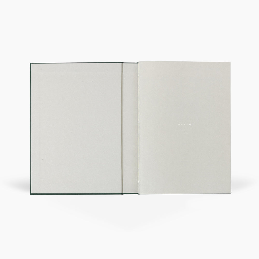NOTEM Alva Annual Journal 2021, A5 Flat Lay Binding - Dark Green - NOTEM studio