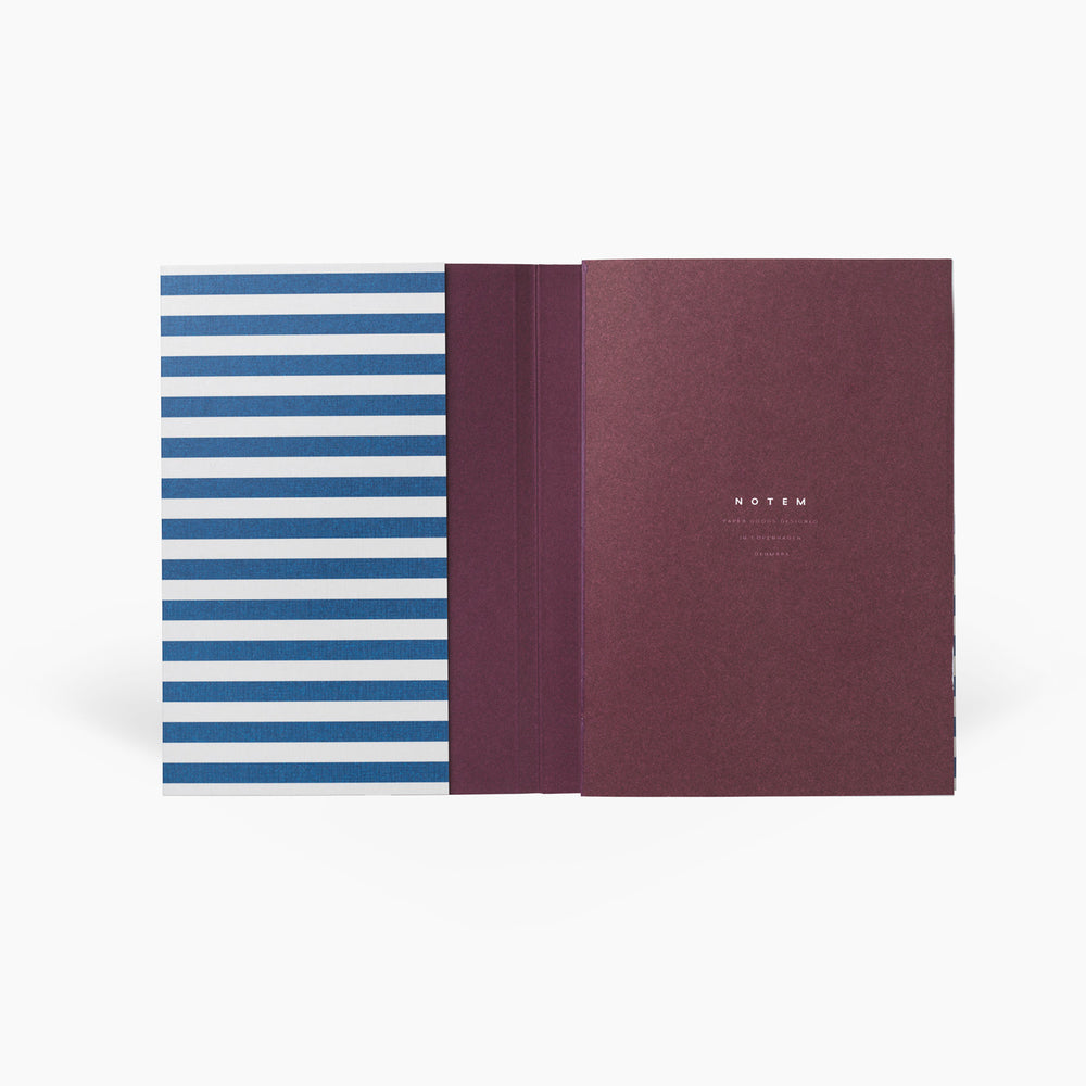 NOTEM Alva Annual Journal 2021, Flat-lay Binding, A6 - Bright Blue - NOTEM studio