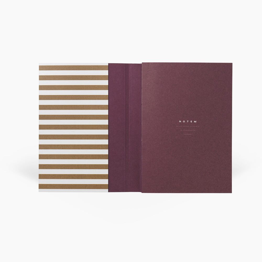 NOTEM Alva Annual Journal 2021, Flat-lay Binding, A6 - Ochre - NOTEM studio