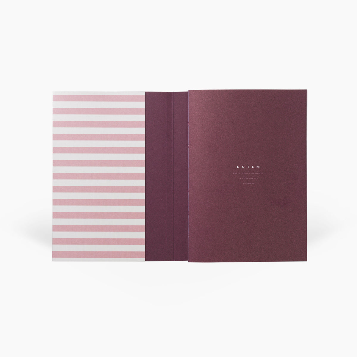 NOTEM Alva Annual Journal 2021, Flat-lay Binding, A6 - Rose - NOTEM studio