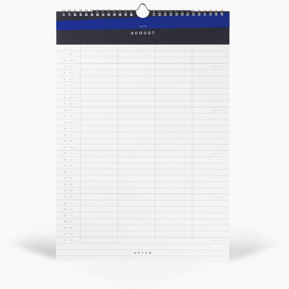 Notem Alva Wall Calendar 2020 Interior