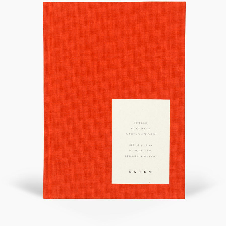 Notem Even Notebook Medium Bright Red Cover