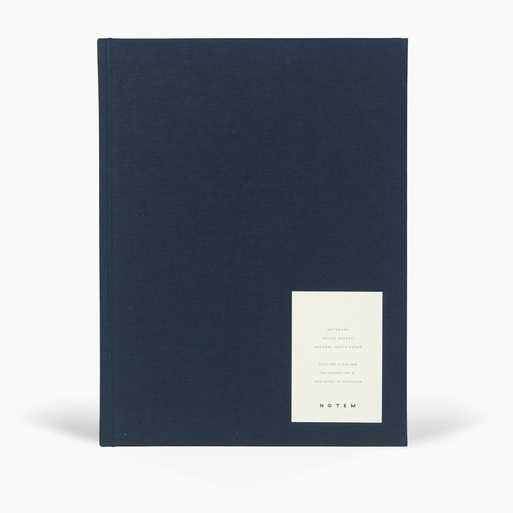 Notem Even Notebook Large Dark Blue Cloth Cover