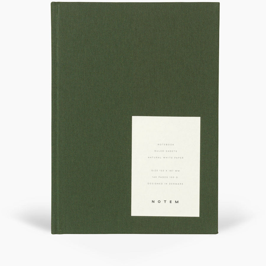 Notem Even Notebook Medium Forest Green Cloth Cover